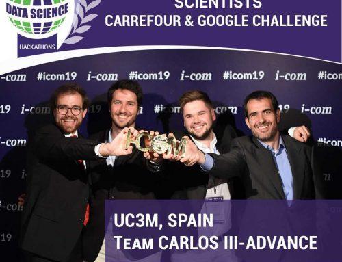 """Angel Cuevas Rumín, miembro de IBiDat, y su equipo aDvance ganan el """"2019 Carrefour & Google Challenge"""" organizado por I-Com"""