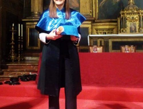 Vanesa Guerrero, miembro de IBiDat, recibe el Premio Extraordinario de Doctorado del curso 2016-2017